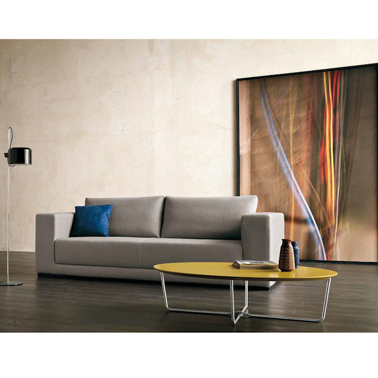 'Oval' coffee table with chromed metal base by Dall'Agnese de My Italian Living Moderno Tablero DM