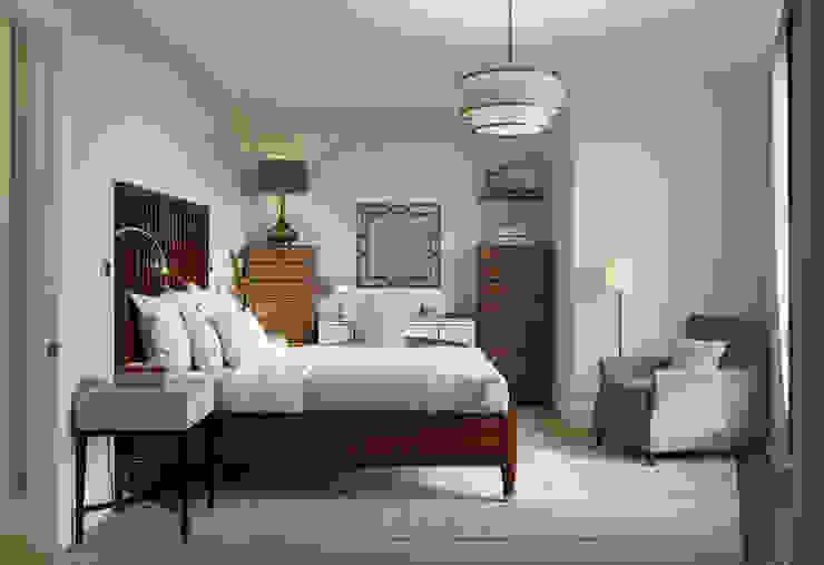 Квартира в ЖК Форт Кутузов Спальня в эклектичном стиле от MARION STUDIO Эклектичный