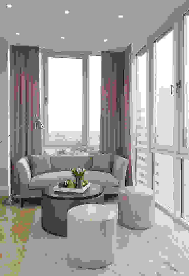 Квартира в ЖК Форт Кутузов Медиа комнаты в эклектичном стиле от MARION STUDIO Эклектичный