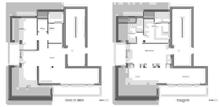 Paredes y pisos de estilo moderno de in&outsidesign Moderno