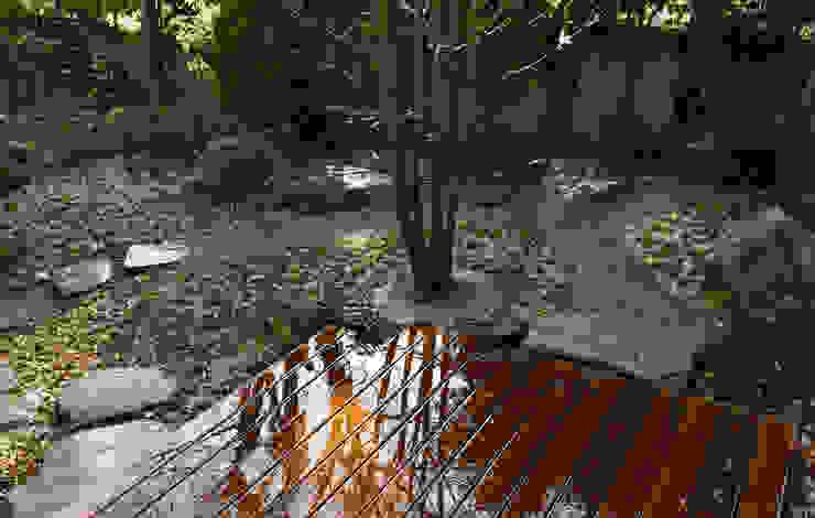 庭 オリジナルな 庭 の 竹内建築設計事務所 オリジナル