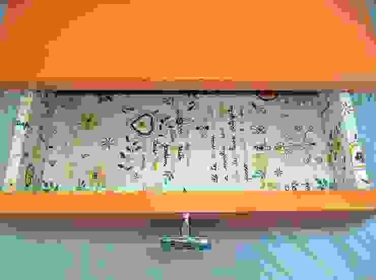 Mesa de Cabeceira Tangerina por Armazém 9 Rústico Aglomerado