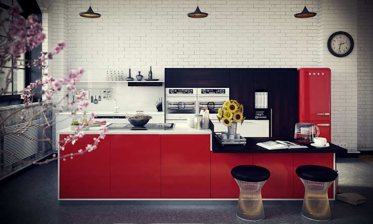 Studio 33 Cozinhas industriais por RIP3D ARCHVIZ Industrial