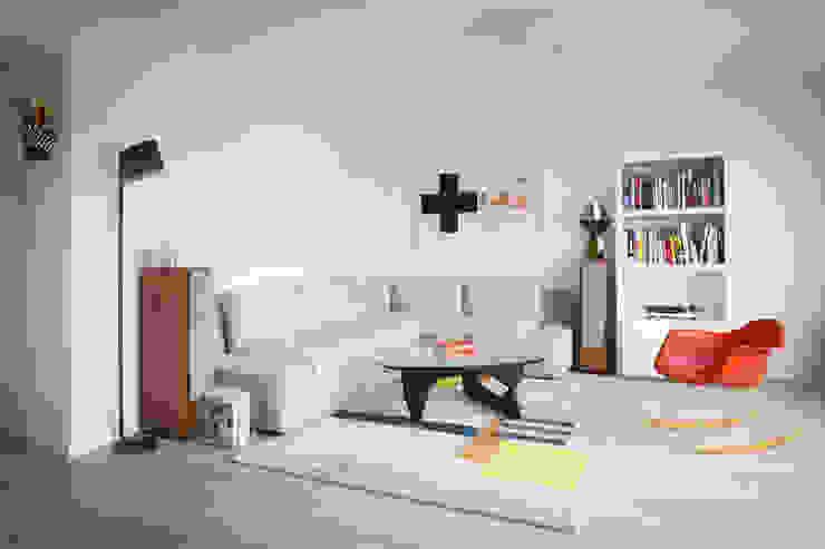 Espace Salon Salon moderne par MELANIE LALLEMAND ARCHITECTURES Moderne