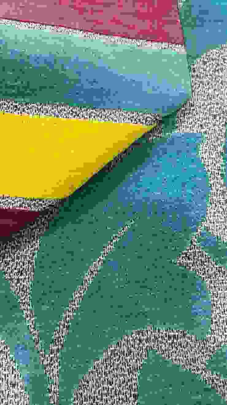 Texturas de decoplas textil Moderno Textil Ámbar/Dorado