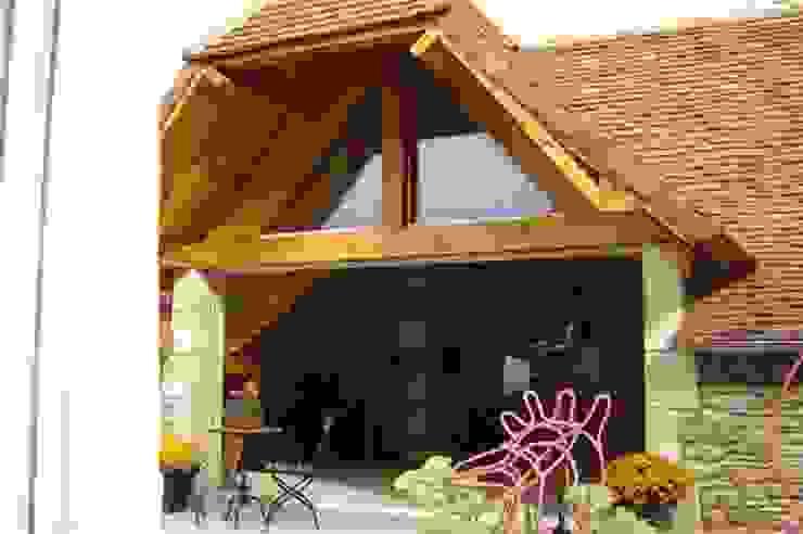 Projet Dordogne Balcon, Veranda & Terrasse ruraux par Agence Inside DECO Rural