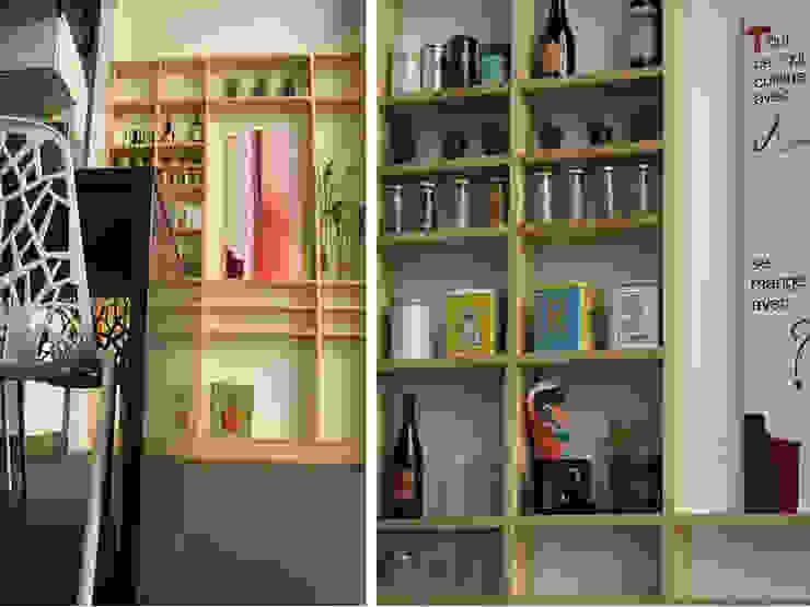 4 - Détail cuisine Salle à manger moderne par Atelier Claire Dupriez Moderne