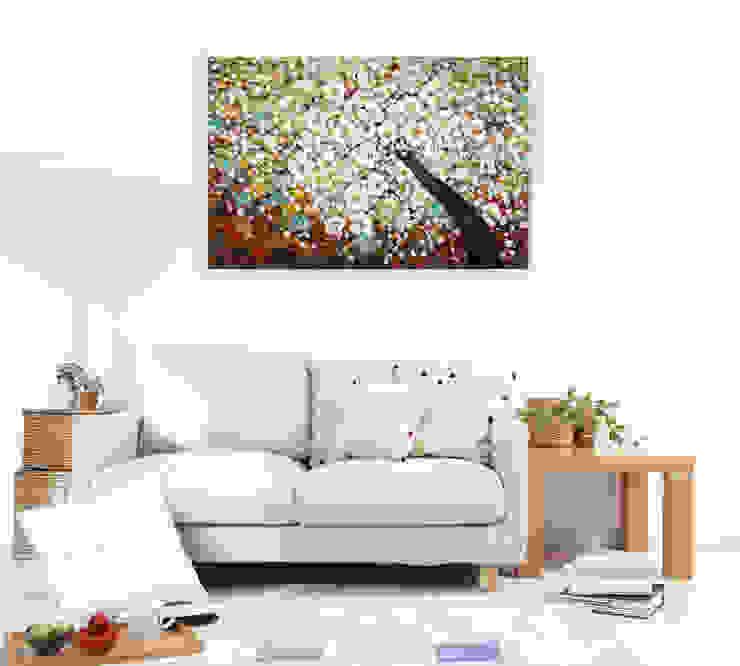Acryl Gemälde 'Zauber im Baumwipfel' 120x80cm KUNSTLOFT Kunst Bilder & Gemälde Baumwolle Braun