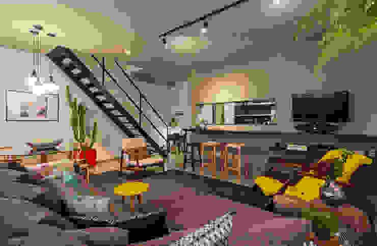 Loft M Salas de estar modernas por Dubal Arquitetura e Design Moderno