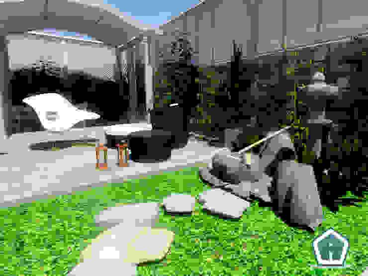 3d Casa Design Balkon, Beranda & Teras Modern