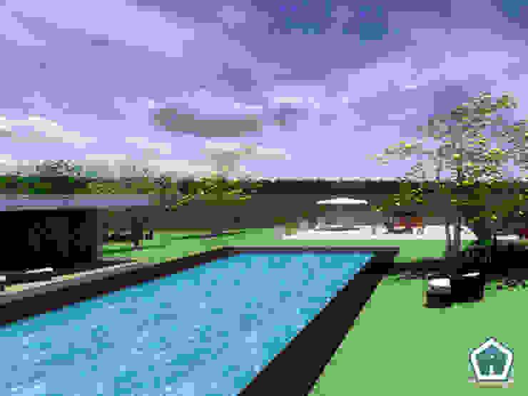 3d Casa Design Kolam Renang Modern