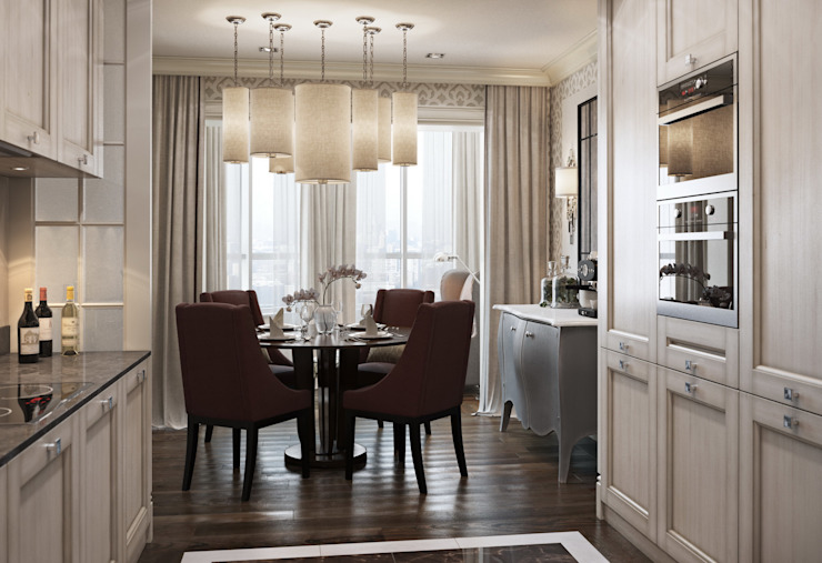 Квартира в ЖК Скай Форт Кухни в эклектичном стиле от MARION STUDIO Эклектичный