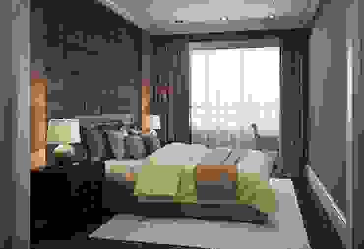 Квартира в ЖК Скай Форт Спальня в эклектичном стиле от MARION STUDIO Эклектичный
