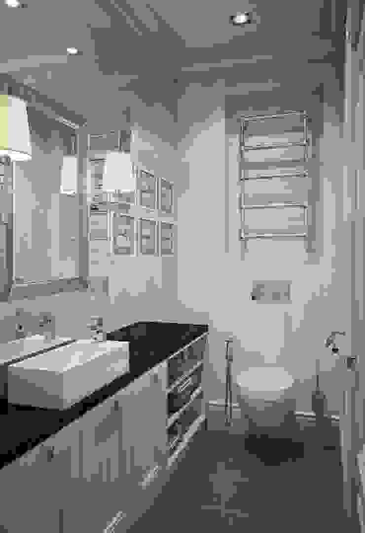Квартира в ЖК Скай Форт Ванная комната в эклектичном стиле от MARION STUDIO Эклектичный