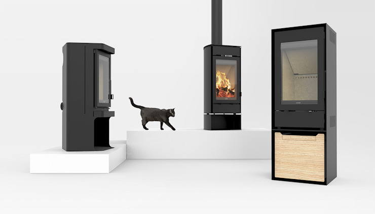 TEK Wood Stove Collection :  industrial por INNGAGE,Industrial