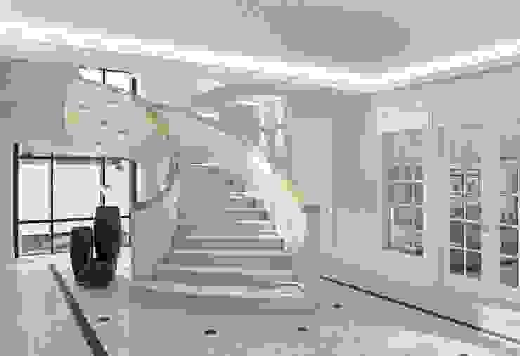 Дом в Madison Park Коридор, прихожая и лестница в эклектичном стиле от MARION STUDIO Эклектичный