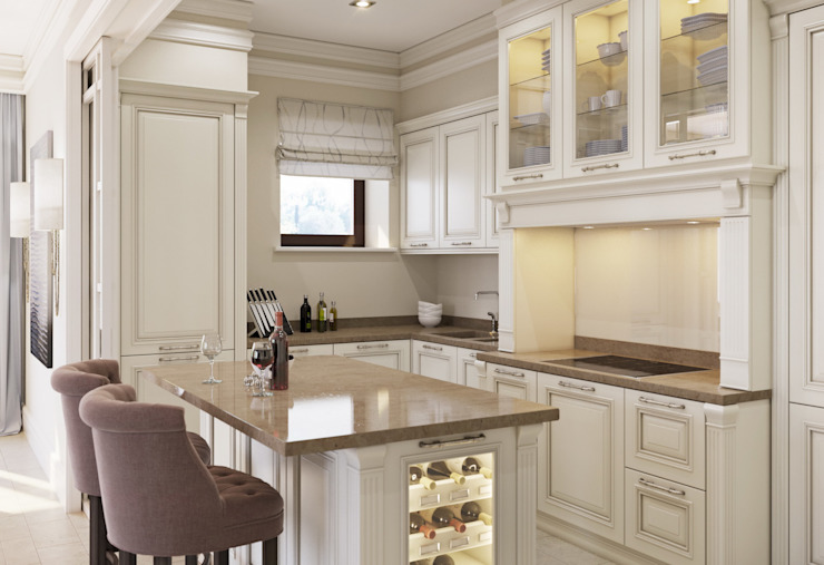 Дом в Madison Park Кухни в эклектичном стиле от MARION STUDIO Эклектичный