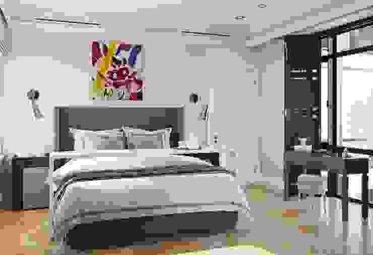 Дом в Madison Park Спальня в эклектичном стиле от MARION STUDIO Эклектичный