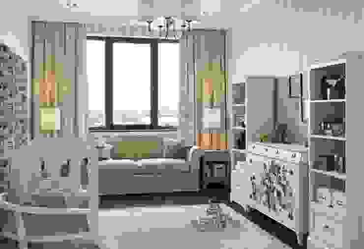 Квартира в ЖК Дубровка Детские комната в эклектичном стиле от MARION STUDIO Эклектичный