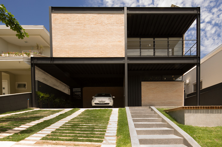 Industrial style houses by Sonne Müller Arquitetos Industrial