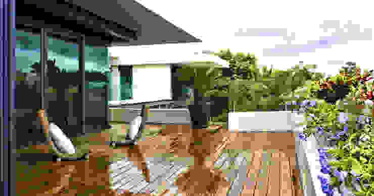 Terrazas de estilo  por AIDA TRACONIS ARQUITECTOS EN MERIDA YUCATAN MEXICO,
