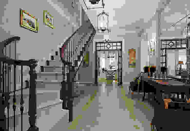 Classic corridor, hallway & stairs by MARION STUDIO Classic