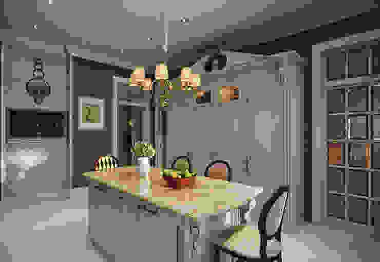 Дом в поселке Красное Кухня в классическом стиле от MARION STUDIO Классический