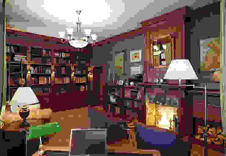 Дом в поселке Красное Рабочий кабинет в классическом стиле от MARION STUDIO Классический