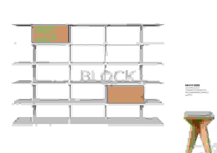 Estante modular Block por Boa Safra Minimalista Derivados de madeira Transparente