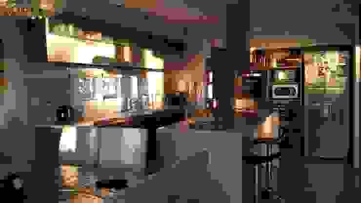 Cocinas de estilo  por Arquitectos Building M&CC - (Marcelo Rueda, Claudio Castiglia y Claudia Rueda), Moderno