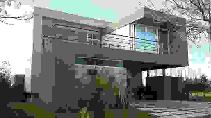 Casas de estilo  por Arquitectos Building M&CC - (Marcelo Rueda, Claudio Castiglia y Claudia Rueda), Moderno