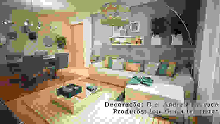 Projecto de Decoração sala by Andreia Louraço Design e Interiores Salas de estar modernas por Andreia Louraço - Designer de Interiores (Contacto: atelier.andreialouraco@gmail.com) Moderno