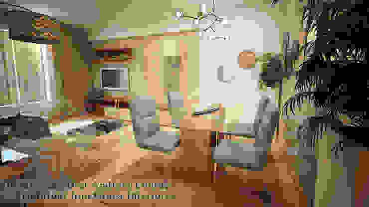 Projecto de Decoração sala by Andreia Louraço Design e Interiores Salas de jantar modernas por Andreia Louraço - Designer de Interiores (Contacto: atelier.andreialouraco@gmail.com) Moderno
