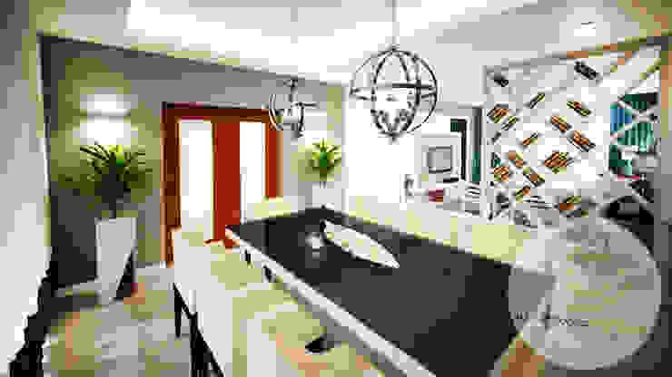Andreia Louraço - Designer de Interiores (Email: andreialouraco@gmail.com) Comedores de estilo moderno Derivados de madera Negro