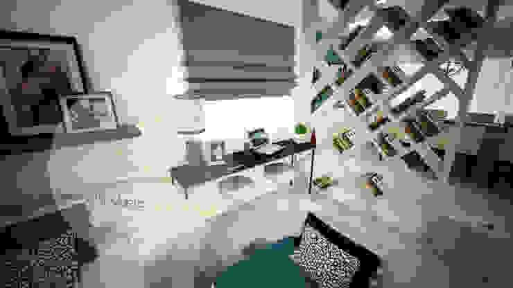 Sala azul por Andreia Louraço - Designer de Interiores (Contacto: atelier.andreialouraco@gmail.com) Moderno