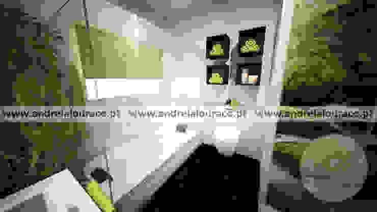 Projecto de Decoração de Wc by Andreia Louraço Design e Interiores: Casas de banho  por Andreia Louraço - Designer de Interiores (Contacto: atelier.andreialouraco@gmail.com),