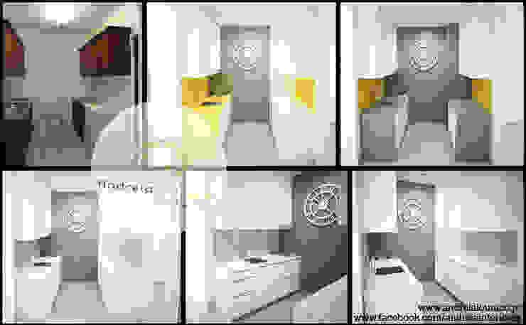 Projecto - Cozinha by Andreia Louraço Design e Interiores Cozinhas modernas por Andreia Louraço - Designer de Interiores (Contacto: atelier.andreialouraco@gmail.com) Moderno Cerâmica