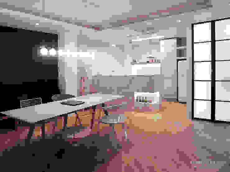 인테리어 사무실 인테리어_홍예디자인: 홍예디자인의  다이닝 룸