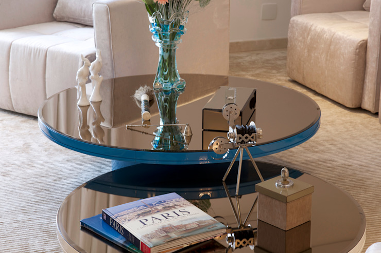 Гостиная в . Автор – Sandra Sanches Arq e Design de Interiores, Модерн