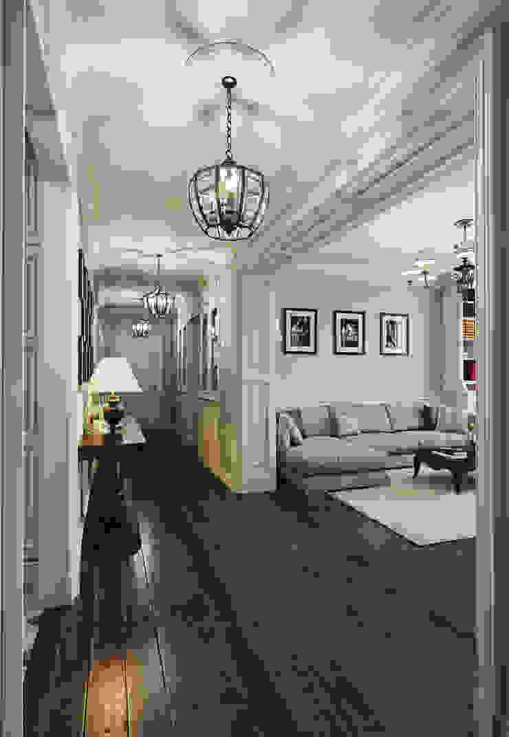 Квартира в ЖК ФилиЧета Коридор, прихожая и лестница в эклектичном стиле от MARION STUDIO Эклектичный