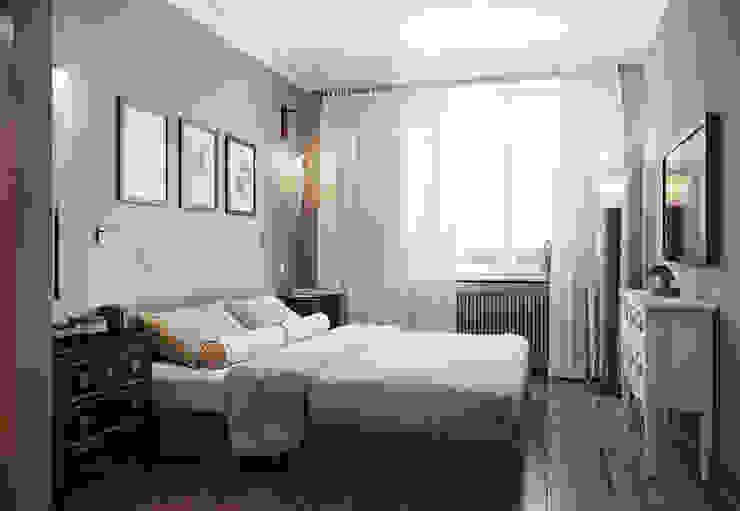 Квартира в ЖК ФилиЧета Спальня в эклектичном стиле от MARION STUDIO Эклектичный