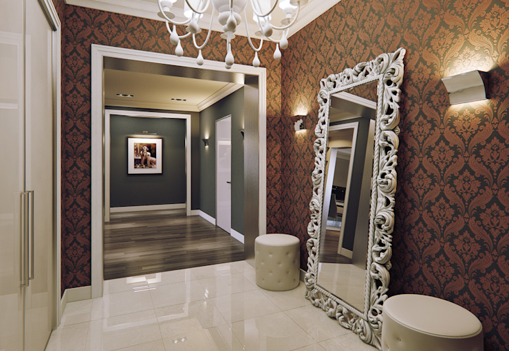 Eclectic style corridor, hallway & stairs by MARION STUDIO Eclectic
