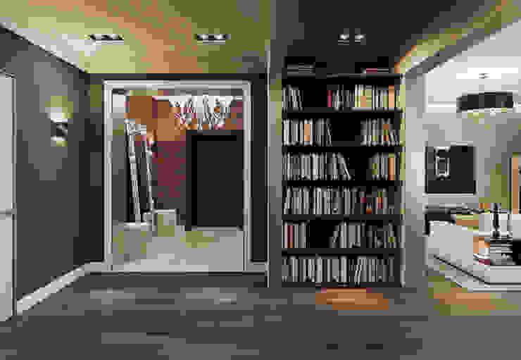 Квартира в ЖК Дом в Хамовниках Коридор, прихожая и лестница в эклектичном стиле от MARION STUDIO Эклектичный