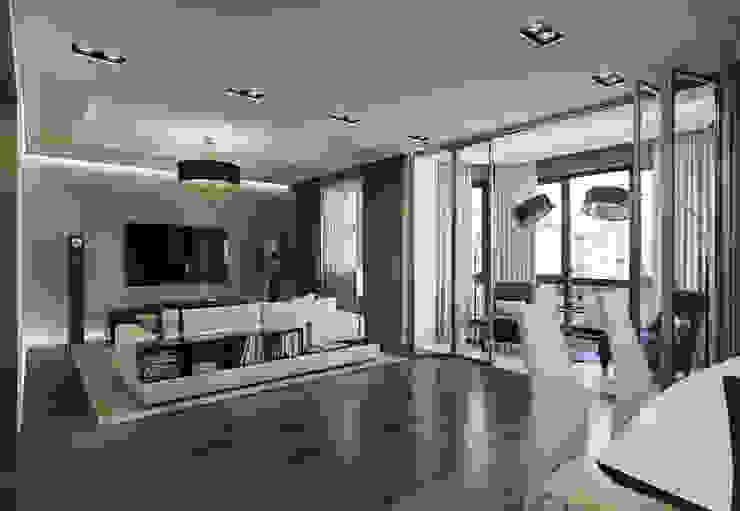 Квартира в ЖК Дом в Хамовниках Гостиные в эклектичном стиле от MARION STUDIO Эклектичный