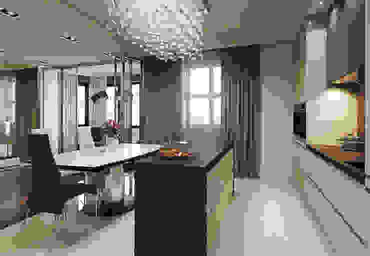 Квартира в ЖК Дом в Хамовниках Кухни в эклектичном стиле от MARION STUDIO Эклектичный