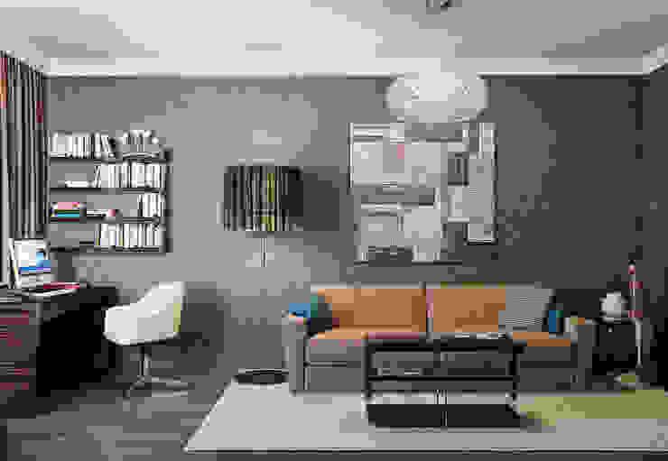 Квартира в ЖК Дом в Хамовниках Медиа комнаты в эклектичном стиле от MARION STUDIO Эклектичный
