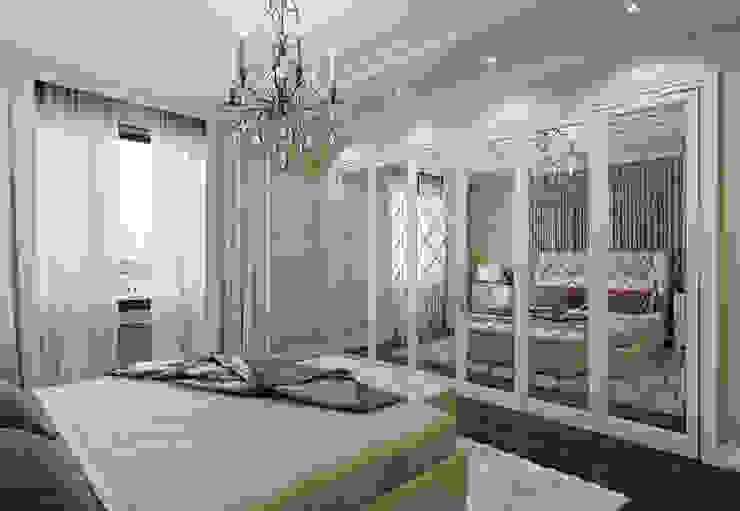 Квартира в ЖК Дом в Хамовниках Спальня в эклектичном стиле от MARION STUDIO Эклектичный