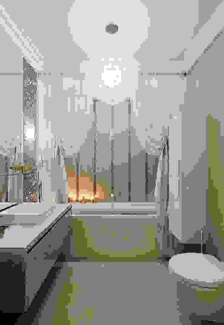 Квартира в ЖК Дом в Хамовниках Ванная комната в эклектичном стиле от MARION STUDIO Эклектичный