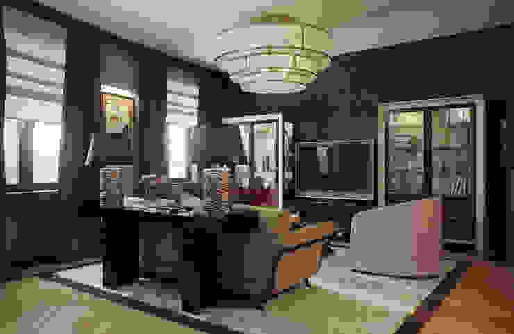 Квартира в ЖК Донское подворье Гостиные в эклектичном стиле от MARION STUDIO Эклектичный