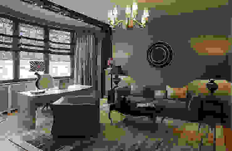 Квартира в ЖК Донское подворье Рабочий кабинет в эклектичном стиле от MARION STUDIO Эклектичный